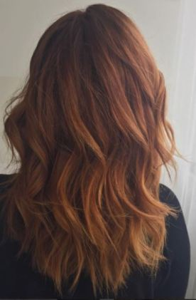 Red/Copper Balayage Colormelt