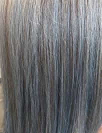 Blue Hue on Grey Hair Colormelt